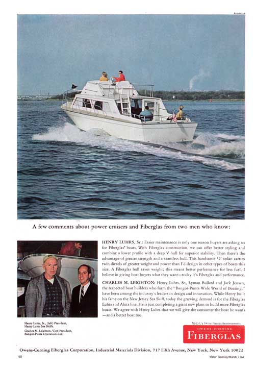 A Few Comments About Power Cruisers and Fiberglass From Two Men Who Know (1967)