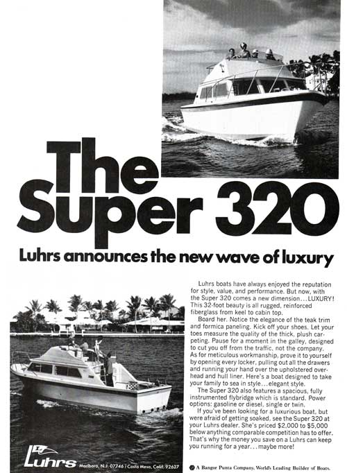 The Super 320 Yacht - Luhrs annonces the new wave of luxury.