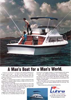 A Man's Boat for a Man's World - The Luhrs Super 320 - 1971 Print Advertisement