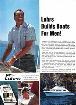 Luhrs Builds Boats For Men! 1971 Magazine Advertisement