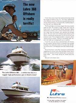 The New Luhrs 360 Offshore Cruiser - 1972 Boat Advertisement