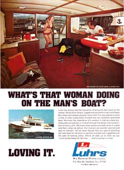 Woman on Mans's Boat -- The Luhrs 410