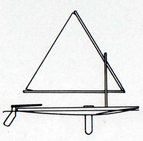 Diagram of the Swift and Super Swift Sailboats by O'Day