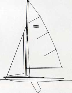 Diagram of the O'Day Flying Saucer Sailboat