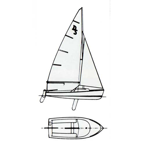 O'Day Day Sailer Diagram of Sailboat