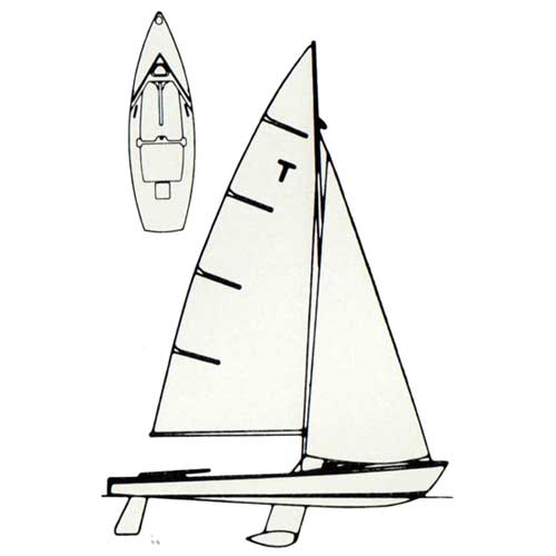 Diagram of the O'Day International Tempest Sailboat