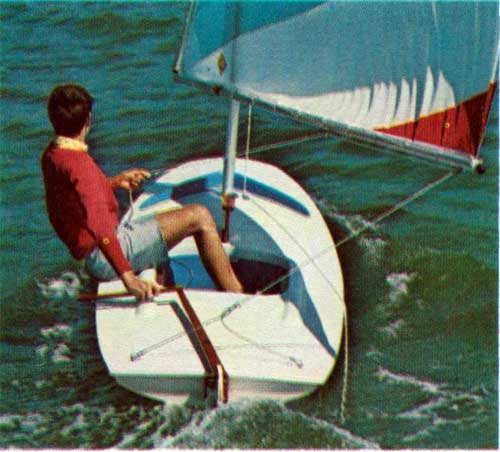 Steering with the Rudder on the Super Swift Sailboat by O'Day