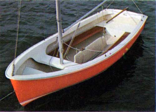 The Hull of the Widgeon Sailboat