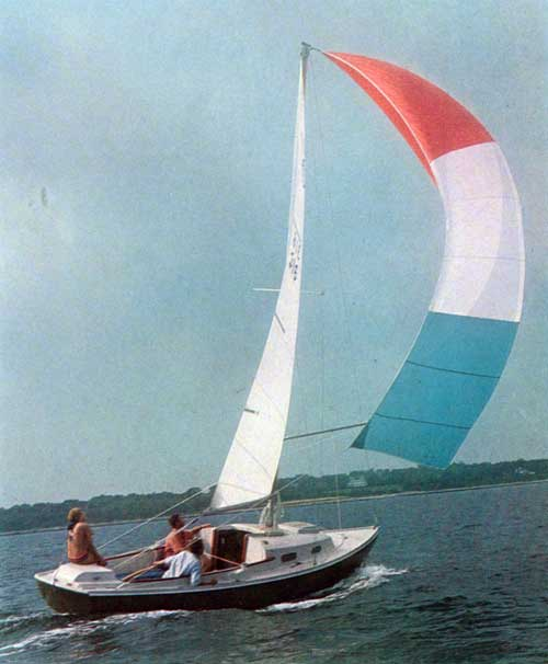 View of the O'Day Tempest Sailboat at full sail