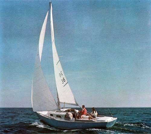 Sailing on the Open Waters on an O'Day Outlaw Sailboat