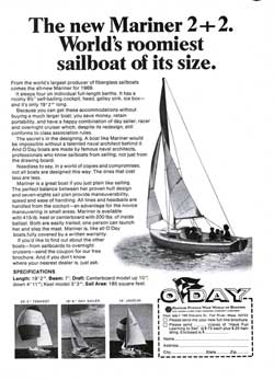 The New Mariner 2+2 - The World's Roomiest Sailboat of its Size