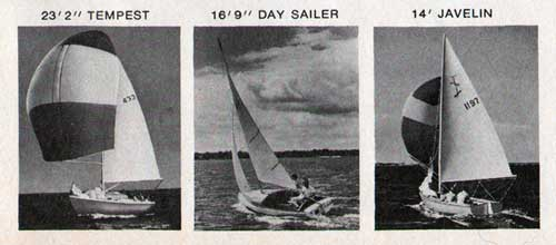 The O'Day Sailboats: Tempest, Day Sailer and Javelin