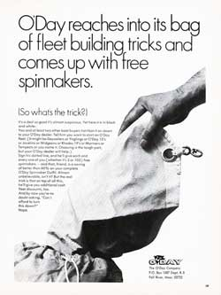 O'Day Fleet Building Tricks: Free Spinnakers. (1970)