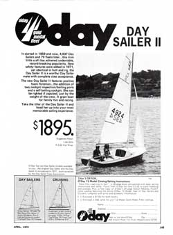 Part of the O'Day Gold Medal Fleet - The O'Day Day Sailer II - 1972 Print Advertisement