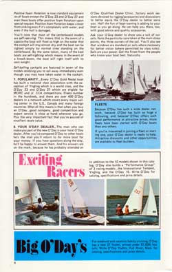 Big O'Days - For Weekend and vacation family cruising. 1973 O'Day Catalog