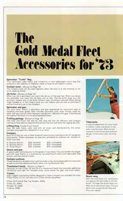 The Gold Medal Fleet Accessories for 1973