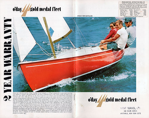 1973 O'Day Gold Medal Flleet Catalog