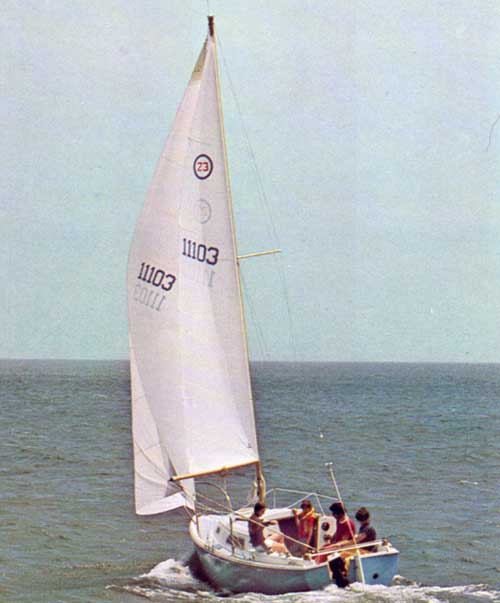 Friends Sailing on an O'Day 23