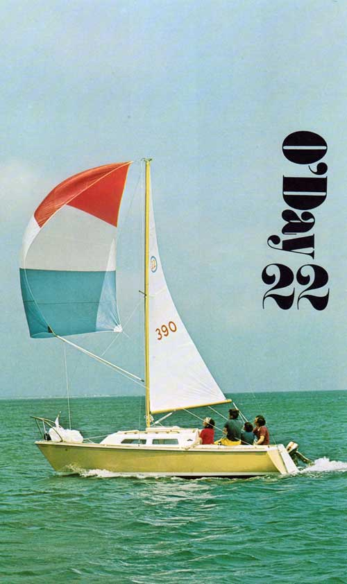 The brand new O'Day 22 Sailboat - 1973 Print Advertisement.