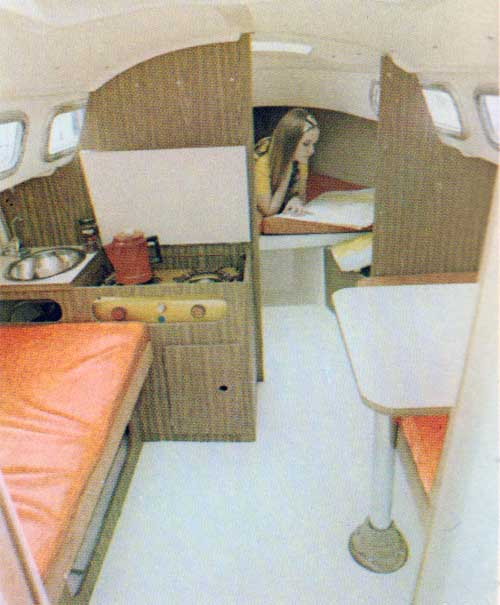 Interior View of the O'Day 22