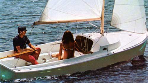 Young Couple on Relaxing Cruise on Day Sailer II