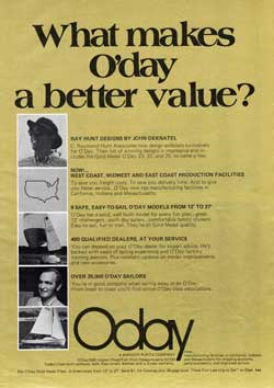 What makes O'day a better value? 1974 Magazine Advertisement