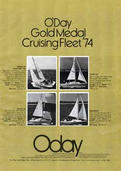 O'Day 1974 Gold Medal Cruising Fleet - 1974 Print Advertisement.