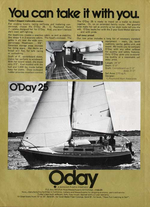 The O'Day 25 Sailboat - You Can Take It With You (1975)