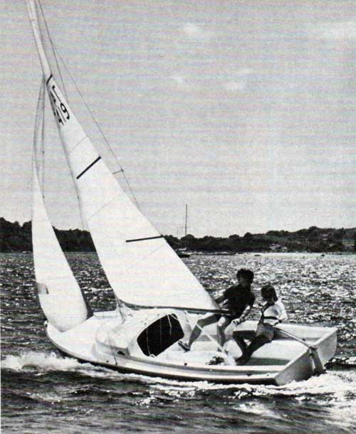 The original Day Sailer, on of four day sailers O'Day builds. 1976 photo