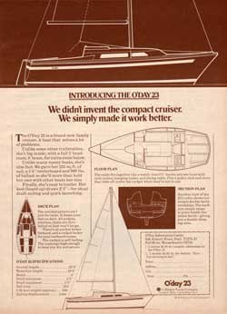 Introducing the O'Day 23 Compact Cruiser - 1976 Print Advertisement