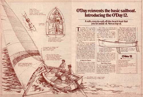 Introducing The O'Day 12. O'Day Reinvents The Basic Sailboat. (1976)