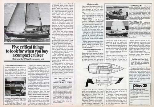 O'Day 25 Yacht: Five Critical Things To Look For When You Buy A Compact Cruiser (1976)