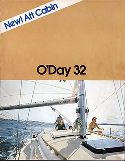 New! Aft Cabin - O'Day 32 - 1977 Sales Brochure