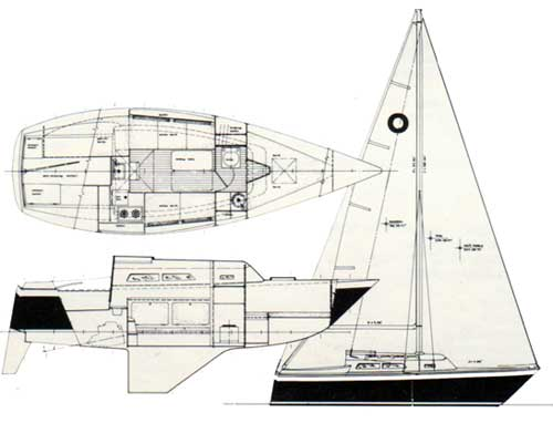 The O'Day 27 Sailboat Schematic