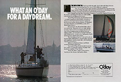 What an O'Day for a Daydream - 1978 Print Advertisement for O'Day Yachts.