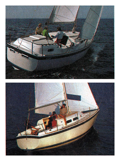 The O'Day 32 (Top) and the O'Day 27 (Bottom)