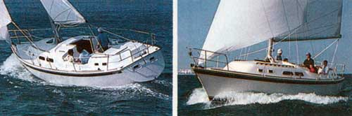 The 1980 O'Day 37 - Two Views of offshore cruising.