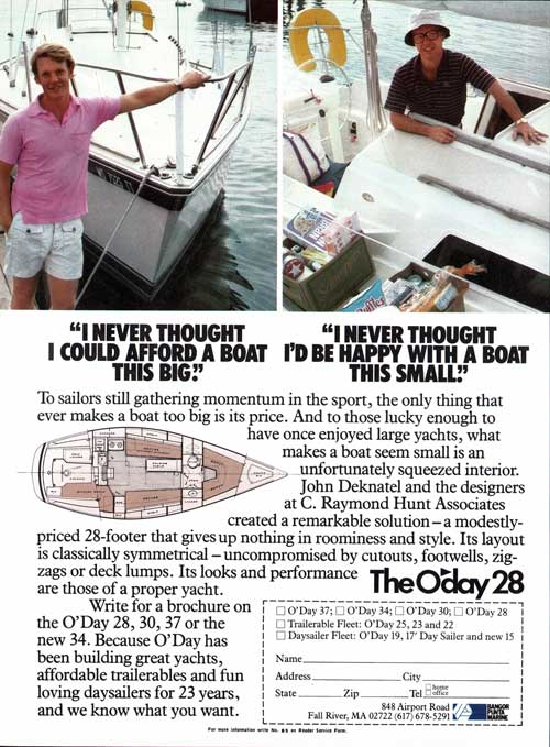 The O'Day 28. Afford A Boat This Big. Happy With A Boat This Small. (1981)