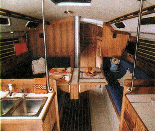 Main Cabin on the O'Day 39