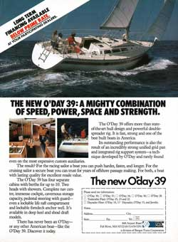 The New O'Day 39: A Mighty Combination of Speed, Power, Space and Strength. (1982)