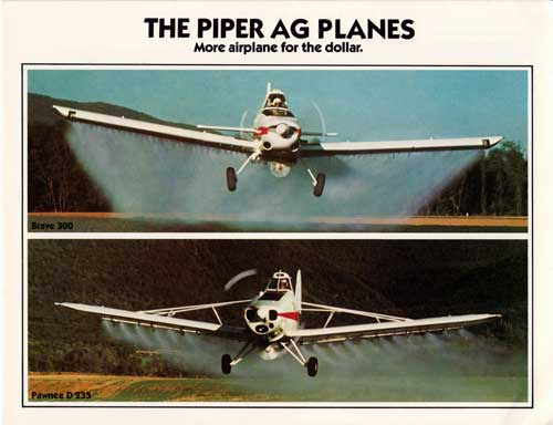 The Piper AG Planes - 1978 Brochure Cover