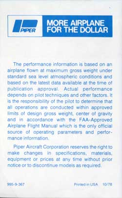 Piper Aircraft Company General Information