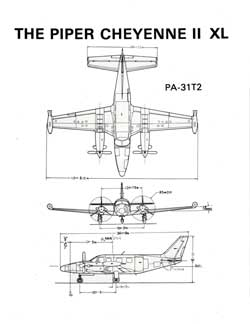 Piper Cheyenne II XL - Specifications, Diagrams and Photo (1981)