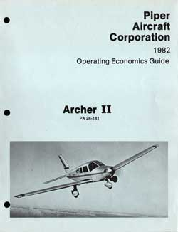 1982 Operating Economics Guide for the Archer II