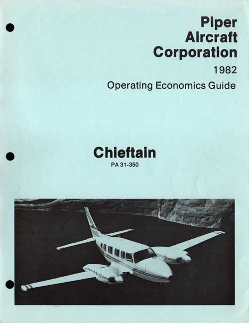 1982 Chieftain Operating Economics Guide - Piper Aircraft Corporation