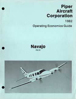 1982 Navajo Operating Economics Guide - Piper Aircraft Corporation