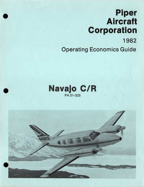 1982 Navajo C/R Operating Economics Guide - Piper Aircraft Corporation