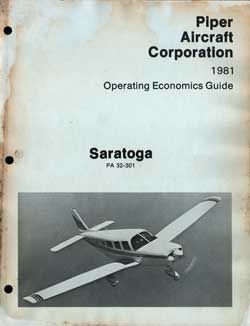 1981 Operating Economics Guide for the Saratoga