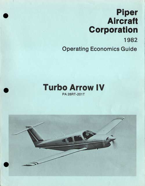 1982 Turbo Arrow IV Operating Economics Guide - Piper Aircraft Corporation
