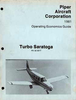 1981 Operating Economics Guide for the Turbo Saratoga